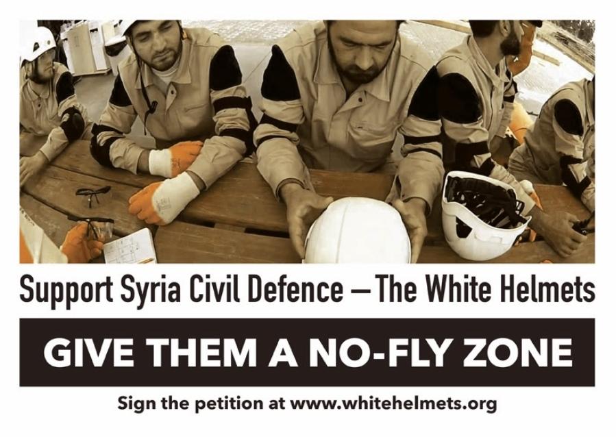 i caschi bianchi richiedono la no fly-zone