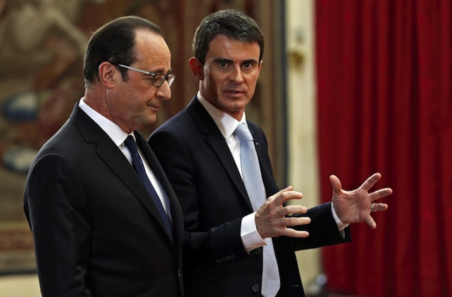 French President Hollande attends his biannual press conference