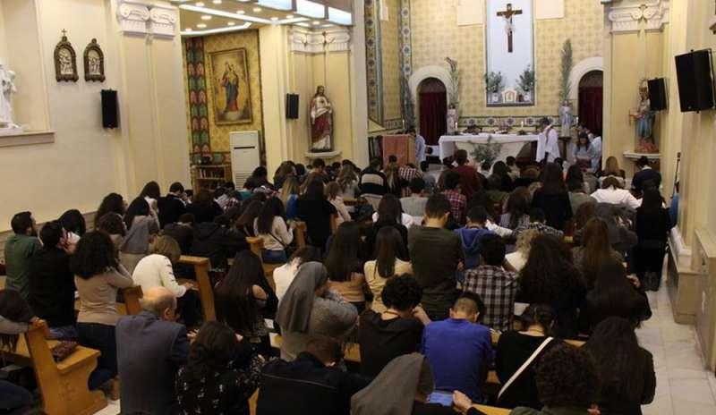 Domenica delle Palme nella chiesa di San Giovanni Bosco, a Damasco