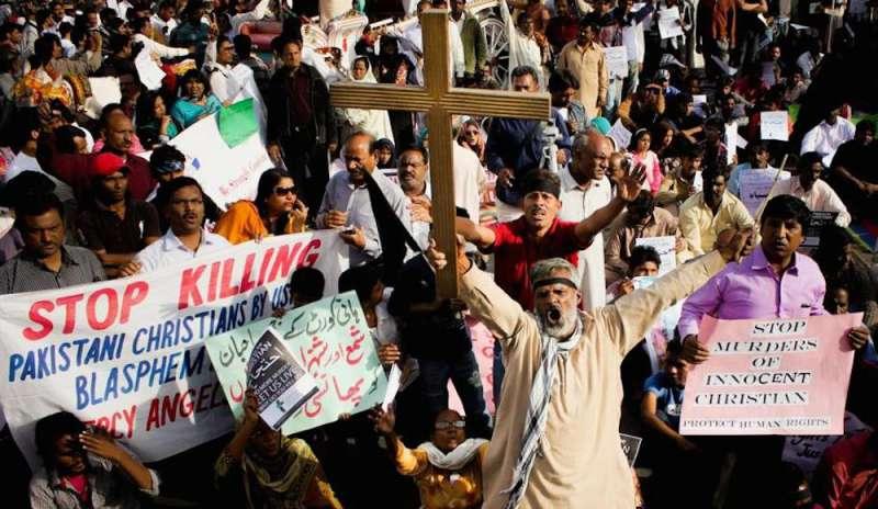 Manifestazione di cristiani in Pakistan